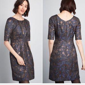 ModCloth Emily & Fin Brocade Dress Super RARE
